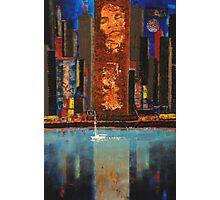 Spirit of NYC - acrylic mixed-media on canvas Photographic Print