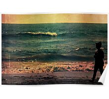 Solitude at Sunset Poster