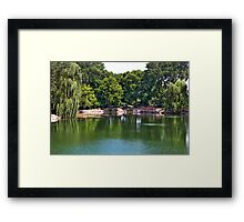 Rotary Garden Pond Framed Print