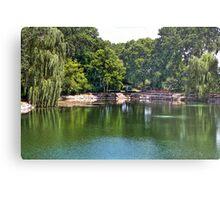 Rotary Garden Pond Metal Print