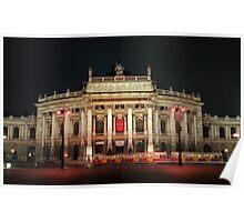 Vienna theater in night lights,Austria Poster
