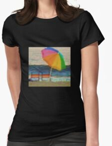 Summertime at the jersey shore Womens Fitted T-Shirt