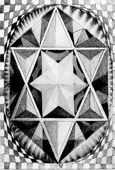 Geometric musings of the star pyramid  by Matthew Scotland