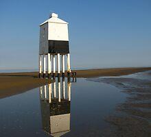 'Lighthouse Reflections', Burnham on Sea, Somerset by wiggyofipswich