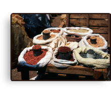 Beans at the  Market Canvas Print