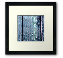 Rising Sea Levels reaching our Skycrapers Framed Print