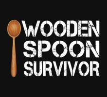 Wooden Spoon Survivor Funny Birthday Gift by onlybuddy