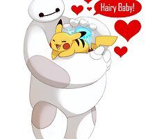 Baymax And Pikachu Hairy Baby hero by GladeArt