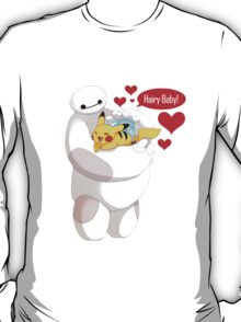 Baymax And Pikachu Hairy Baby hero T-Shirt