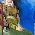 Woman Sitting by Miles Histand