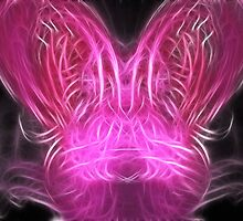 Pink Bunny Fractal by Beatriz  Cruz