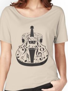 Perspective Violin with Notes Women's Relaxed Fit T-Shirt