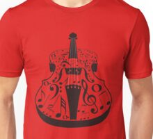 Perspective Violin with Notes Unisex T-Shirt