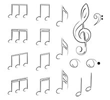 Music Notes2 Photographic Print