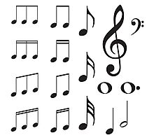 Music Notes Photographic Print