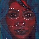 African Tribal Face - A Tribute by Mariaan M Krog Fine Art Portfolio