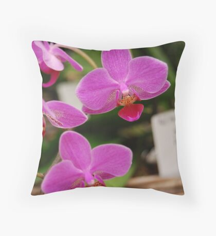 orchid #15 Throw Pillow