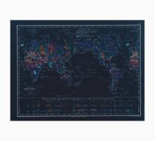 Atlas zu Alex V Humbolt's Cosmos 1851 0148 Earth Geological Map Inverted One Piece - Long Sleeve