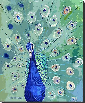Peacock In Bloom by arline wagner