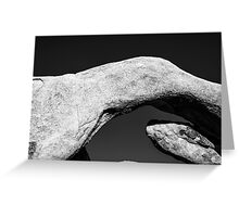 ARCH ROCK IN MONOCHROME Greeting Card