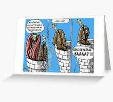 Frankenstein and Dracula Greeting Card