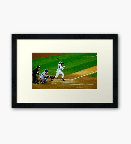 Yankee Hit Framed Print