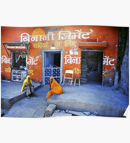 Two women in Rajasthan Poster