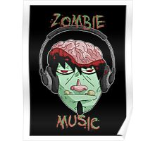 zombie music 8 print... Poster