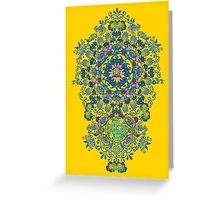 Yellow Porcelain Greeting Card