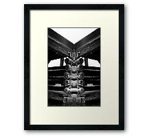 Old barn Mirrored Framed Print