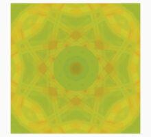 Green-Orange Mandala-Fleur  T-Shirt