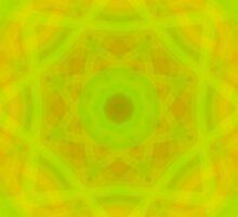 Green-Orange Mandala-Fleur  by FireFairy