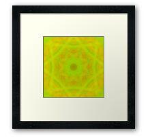 Green-Orange Mandala-Fleur  Framed Print