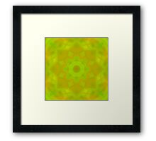 Green-Orange Mandala Star Framed Print