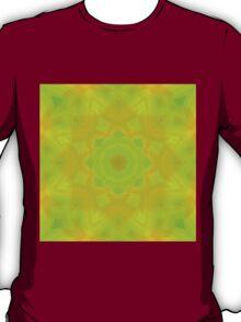 Green-Orange Mandala Star T-Shirt