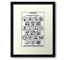 Ingress Achievements Black Framed Print