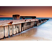Dusk at Mentone Pier #1 Photographic Print