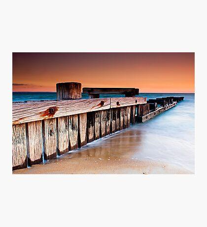 Dusk at Mentone Pier #1 Photographic Print