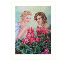 Cyclamen spirits Art Print