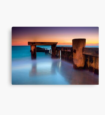 Dusk at Mentone Pier #4 Canvas Print