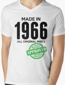 Made In 1966 All Original Parts - Quality Control Approved Mens V-Neck T-Shirt