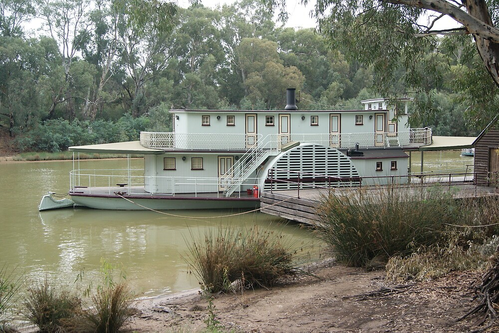 Magestic Paddle Steamer on the River Murray, Echuca, Vic by pitspics