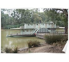 Magestic Paddle Steamer on the River Murray, Echuca, Vic Poster