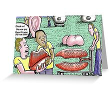 facial landscapers Greeting Card