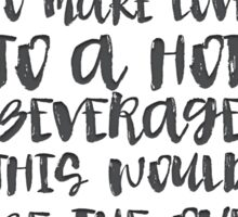 Gilmore Girls Typography  // Coffee Love Sticker