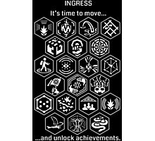 Ingress Achievements White Photographic Print