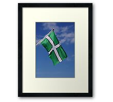 Devon Flag Framed Print