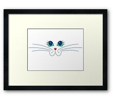 Putty-cat Face Framed Print