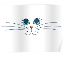 Putty-cat Face Poster