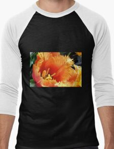Tulip With A Fringe On Top Men's Baseball ¾ T-Shirt